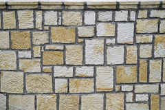 Stone wall pattern. Stone wall texture pattern as background Royalty Free Stock Photos