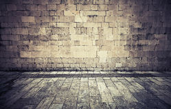Stone wall and pavement. Instagram Effect Stock Images
