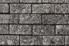 Stone wall, pavement not level masonry, macro. royalty free stock image
