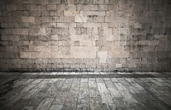 Stone wall and pavement Royalty Free Stock Images