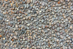Stone wall of pebbles. Gray Stock Image