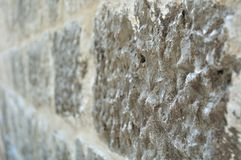 Stone wall in perspective for background Royalty Free Stock Image