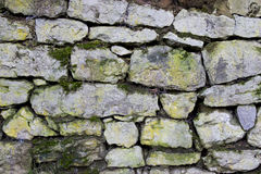 Stone Wall. Photograph of stone wall in Wateringbury, Kent, UK. Useful as a graphic background Stock Photo