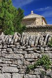 Stone Wall Provence, France Stock Photography