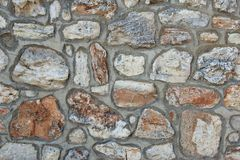 Stone Wall with Random Tiled Pattern Stock Photos