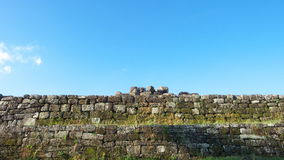 Stone wall of ratu boko palace complex Royalty Free Stock Photo