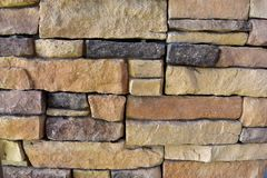 Stone. Wall stone rectangle texture and natural color background Royalty Free Stock Photography