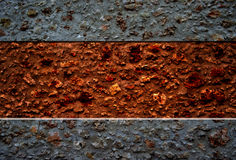 Stone wall. Red and grey stone wall Stock Photos