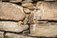 Stone wall rocky stacked background Royalty Free Stock Photo