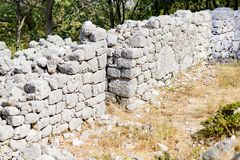 Stone wall ruins. The stone wall a ruins Royalty Free Stock Photography