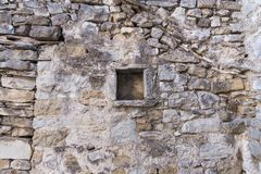 Stone wall. Rusty stone wall, background, historic Stock Image