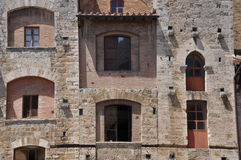 Stone wall of San Gimignano Royalty Free Stock Photos
