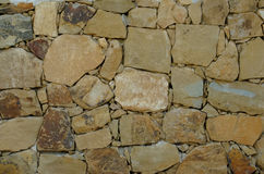 Stone Wall in beige, sand color Stock Photos