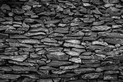 Stone wall of sandstone black. Stone wall of sandstone with very good detail black Stock Photography