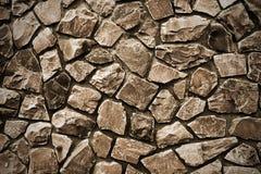 Stone wall sepia Royalty Free Stock Image