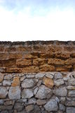 Stone wall and sky Royalty Free Stock Images