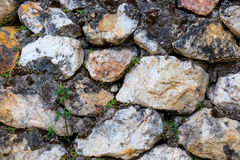Stone wall. Small stones, as well as strong walls Royalty Free Stock Image