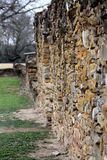 Stone Wall of Spanish Mission Espada Stock Image
