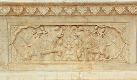 Stone Wall in Sri Sudha rani Garden Palace in Jaip Royalty Free Stock Photo