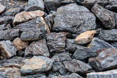 Stone wall in Srinakarin Dam Royalty Free Stock Photo