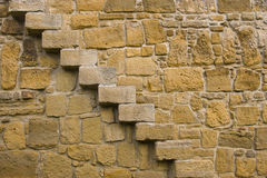 Stone wall with stairs Royalty Free Stock Photography
