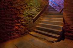 Stone wall and stairs Royalty Free Stock Photo