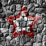 Stone wall with star Royalty Free Stock Image