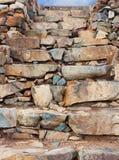 Stone wall steps Royalty Free Stock Photo