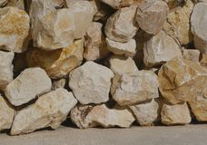 Stone wall, stone floor, stones, material, construction Stock Photography
