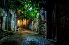 Street at night in Montenegro Royalty Free Stock Photo