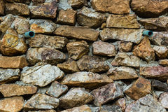 Stone wall. Strong stone wall Building a fence Royalty Free Stock Images