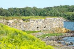 Stone Wall of Suomenlinna Royalty Free Stock Photography