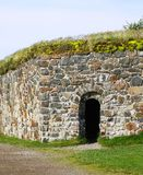 Stone Wall of Suomenlinna Sveaborg Fortress Stock Images
