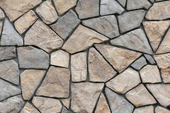 Stone wall surface with cement Stock Photo