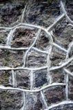 Stone wall. Surface, gray texture Stock Photo