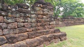 Stone wall surround Ku Prapha Chai  building Royalty Free Stock Photography