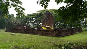 Stone wall surround Ku Prapha Chai  building Royalty Free Stock Images