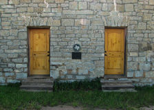 Stone wall with Texas plaque. Stock Images
