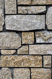Stone wall texture. Texture and background of a gray color stone wall surface, outdoor Royalty Free Stock Images