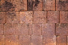 Stone Wall Texture. Neatly arranged ancient red stone wall texture background Royalty Free Stock Photography
