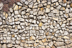 Stone wall texture. A textured pattern on a stone wall Stock Photography