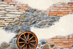 Stone wall texture. With different additions Stock Photography