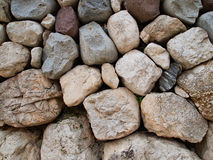 Stone wall texture. Uneven stone wall texture for backgrounds Stock Photography