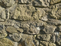 Stone wall texture. Uneven stone wall texture for backgrounds stock image