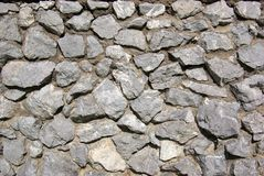 Stone wall texture. Grey stone wall background texture Royalty Free Stock Photography
