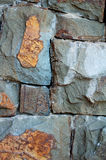 Stone Wall Texture. Gray Brown Stone Wall Texture Royalty Free Stock Images