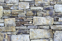 Stone wall. Texture of the stone wall Stock Photos