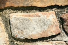 Stone Wall Texture. Close up of stone wall texture Royalty Free Stock Photography