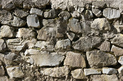 Stone wall texture. Ancient rough stone walling texture as background Stock Photo