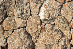 Stone wall texture background. Tuff wall background texture construction Stock Images